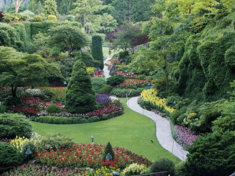 Butchart Gardens, Victoria, Canada Photographic Print