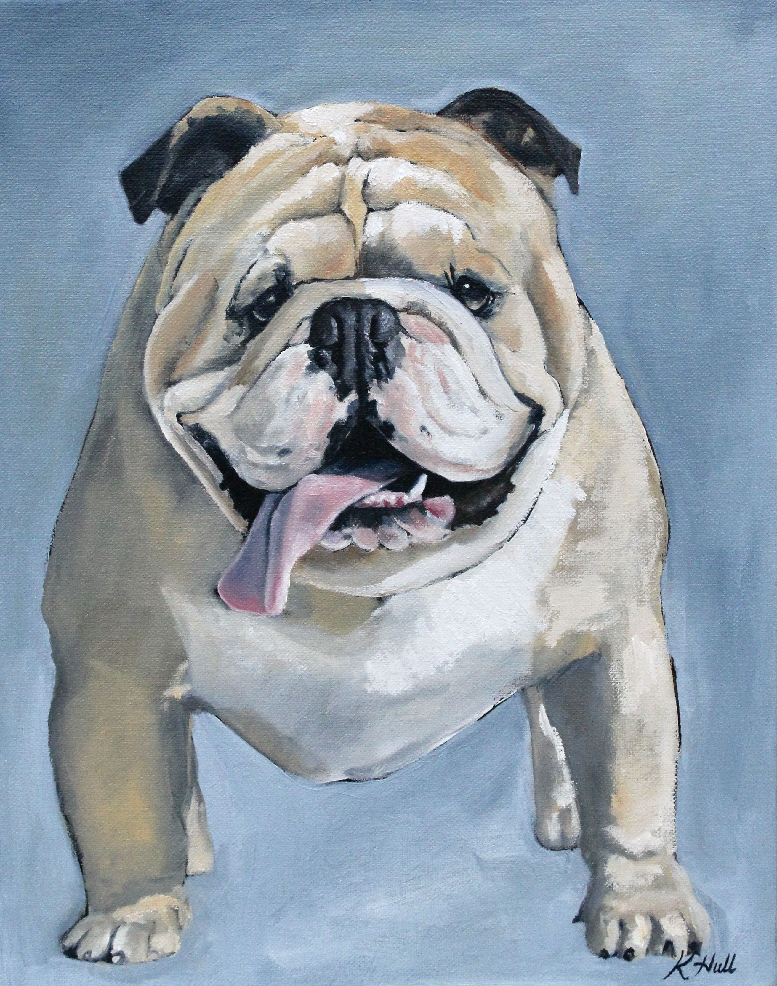 English Bulldog Painting English Bulldog Art English Bulldog