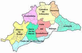 Mapa De Antequera Malaga.Las Comarcas Malaga Antequera Costa