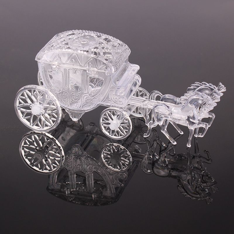 Clear Box Royal Carriage Cinderella Wedding Favors And Gifts Package Candy Small For