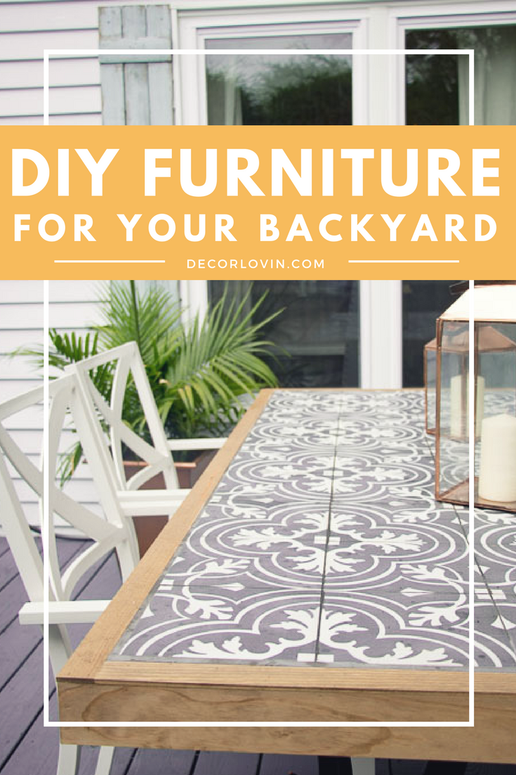 Diy Outdoor Furniture Projects For Your Backyard Kitchen Table
