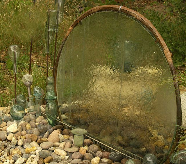 Garden Idea Waterfalls using a recycled patio table top - Garden Junk Forum - GardenWeb