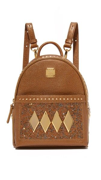 Mcm Crystal Baby Backpack Bags Leather Backpacks