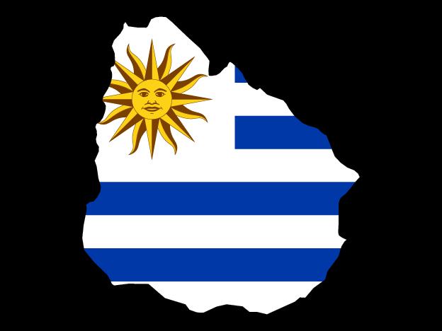 Flag Map Of Uruguay Free Vector Maps Uruguay Map Map Vector Vector Free