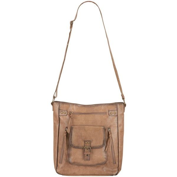 maurices Crossbody Bag With Four Front Pockets ($44) ❤ liked on Polyvore featuring bags, handbags, shoulder bags, brown, white crossbody, brown crossbody purse, faux leather crossbody, brown cross body purse and brown handbags