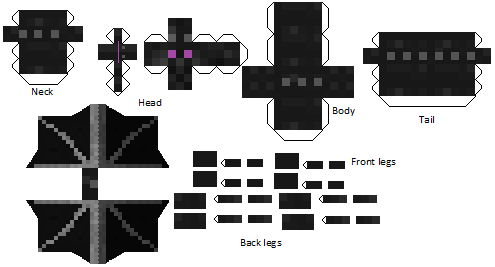 Enderdragon Papercraft Minecraft Cut Outs Of Your Favourite