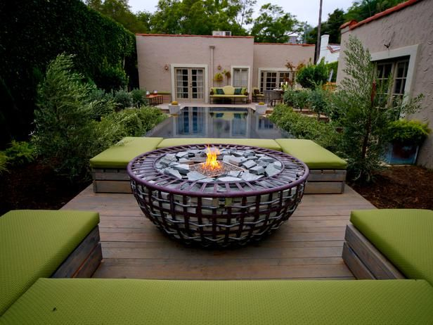 Fire Pit Design Ideas small but sexy Fire Pit Design Ideas A Jamie Durie Original Design The Gabion Fire Feature Adds