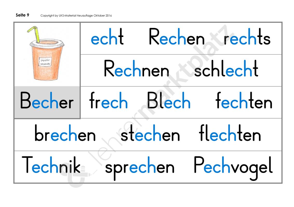 Leselernplakate Schwierige Wörter - zum Ausprobieren - Seite 9 ...