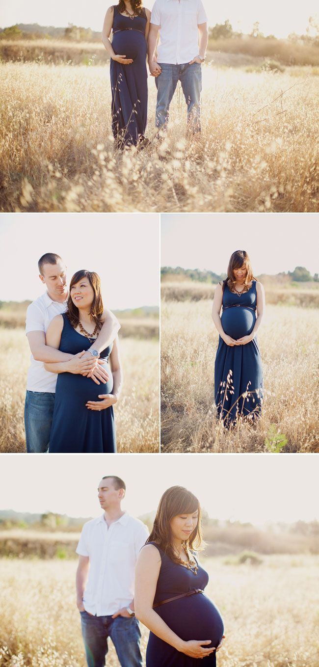 Maternity couples posing ideas from this session. Beautiful light.