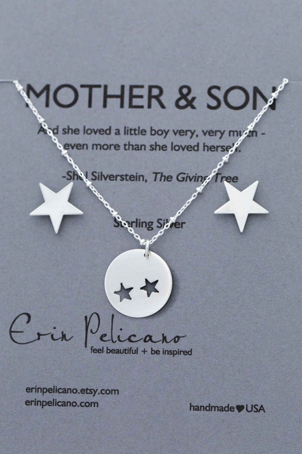 Mother Two Son Jewelry Inspirational Gift Mom By Erinpelicano