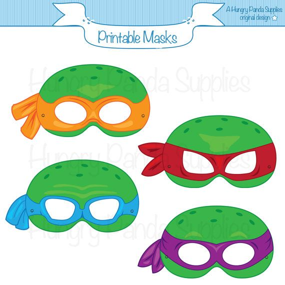 Turtles Printable Masks, Printable Masks, Turtle Masks, Ninja