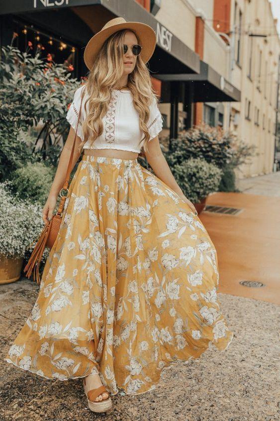 Summer Maxi Skirt Outfit | Upbeat Soles | Orlando Florida Fashion Blog