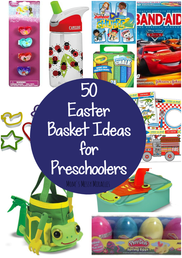 Easter basket ideas for preschoolers easter baskets dont need to be all about the candy here are 50 negle Choice Image