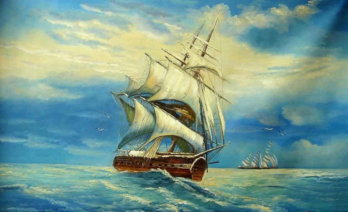 Deniz Manzara Resmi Yagli Boya Manzara Resim Resimler