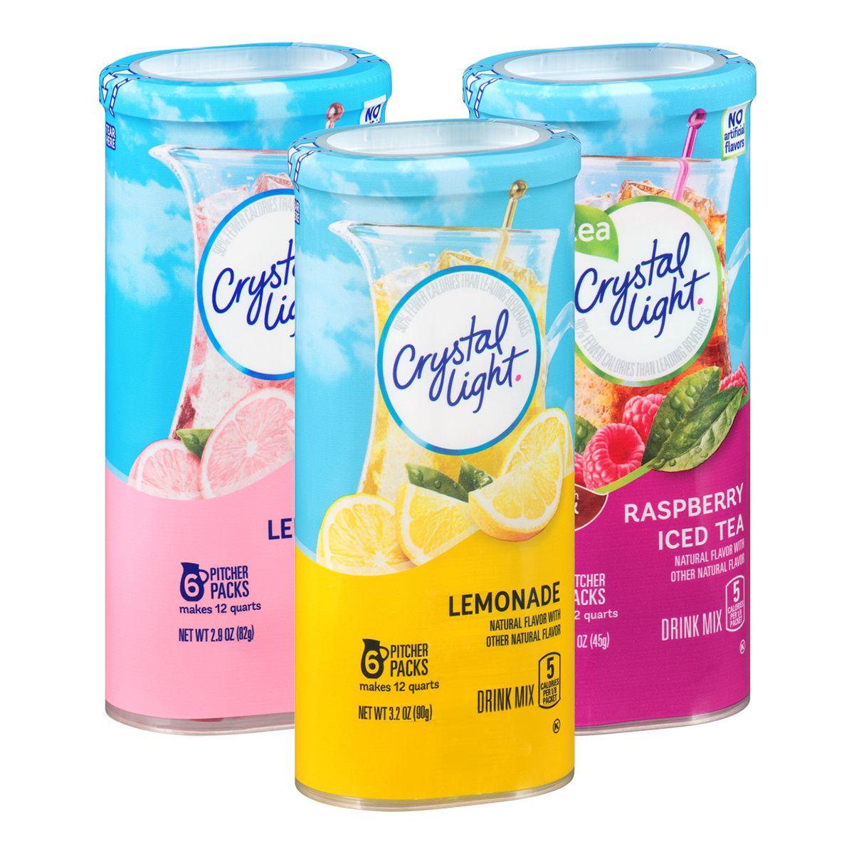 Kraft Powdered Bev Banana Drinks Crystal Light Lemonade