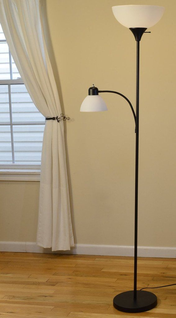 Floor Lamp With Side Reading Light By Lightaccents Black Model