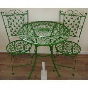 Green wrought iron patio furniture Rod Iron French Bistro Kitchen Table And Chairs French Ornate Green Wrought Iron Metal Garden Table And Chairs Bistro bistrofurniture Pinterest French Bistro Kitchen Table And Chairs French Ornate Green Wrought