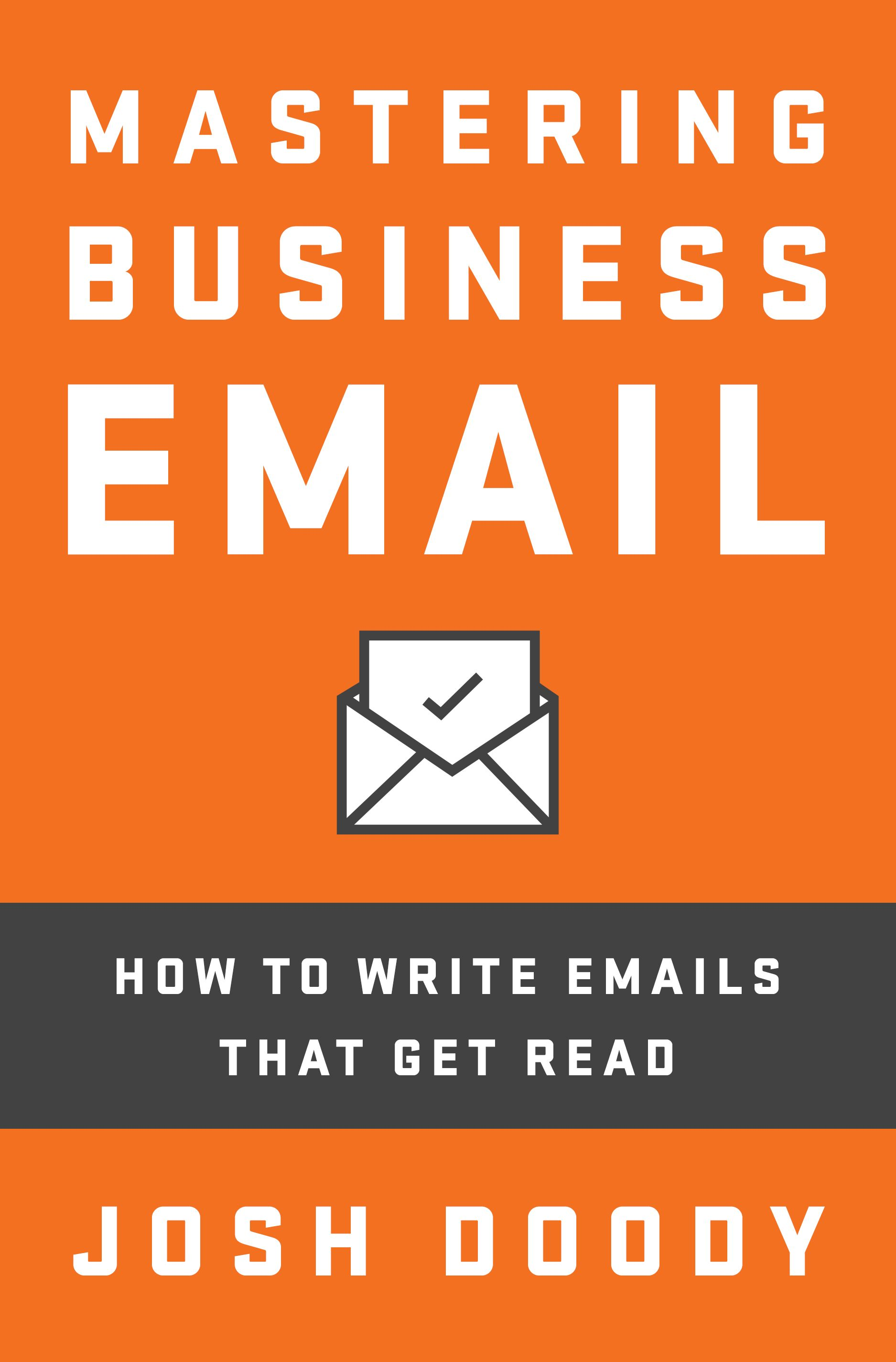 how to write business email book
