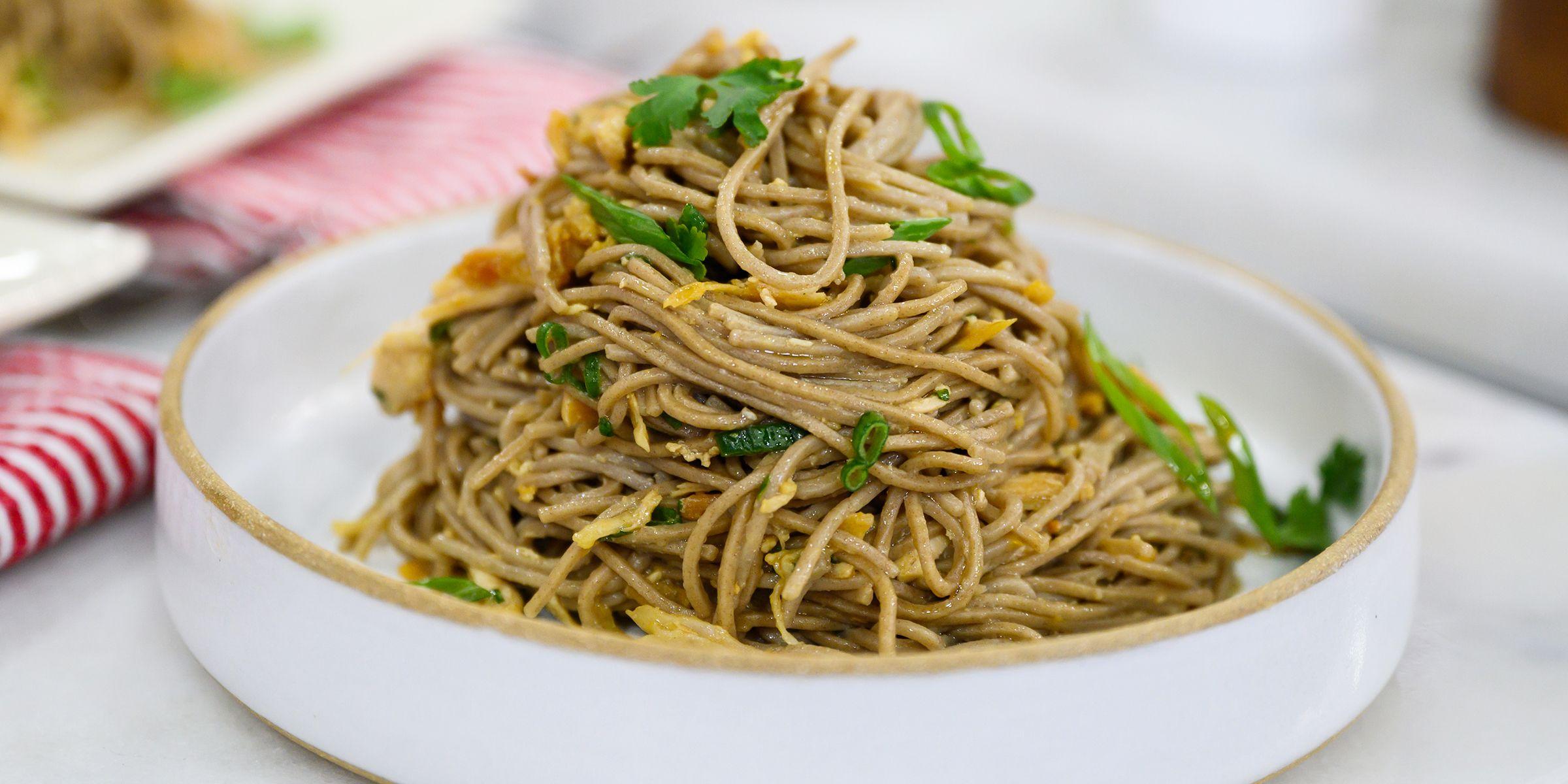Use Leftover Turkey To Make A Flavorful Soba Noodle Salad Recipe Soba Noodles Sesame Noodle Salad Soba Noodles Salad