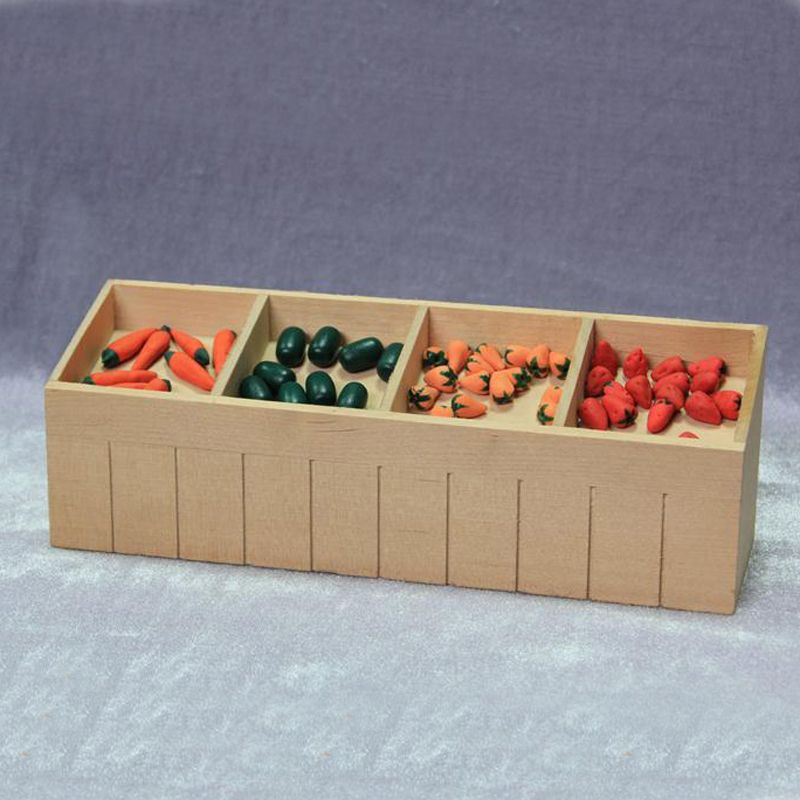 Doll House Furniture 1:12 scale Shopping bag with veggies in