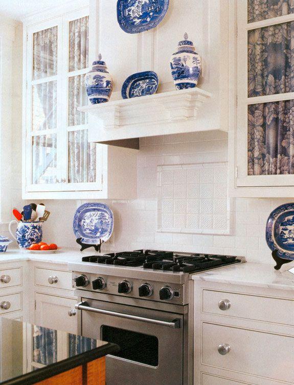 White Kitchen; Blue U0026 White China. Blue Willow!