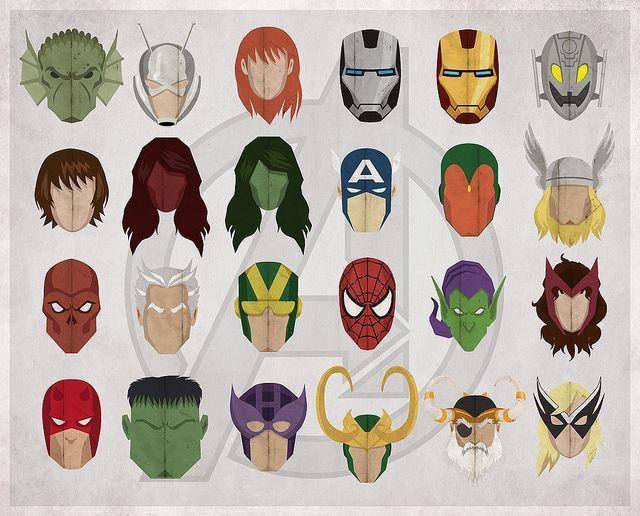 Avengers - Family Tree by slaterman23, via Flickr