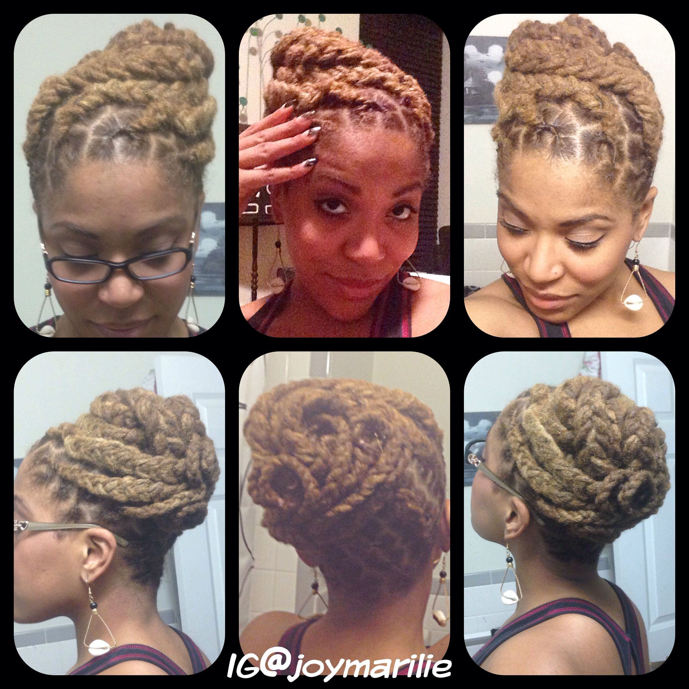 natural hair, locks, locs. braid pin-up   my loc styles and