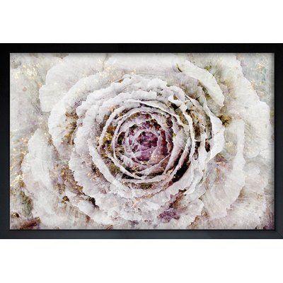 "House of Hampton Winter New York Flower Framed Graphic Art Size: 42"" H x 62"" W x 0.5"" D, Frame Color: Black"