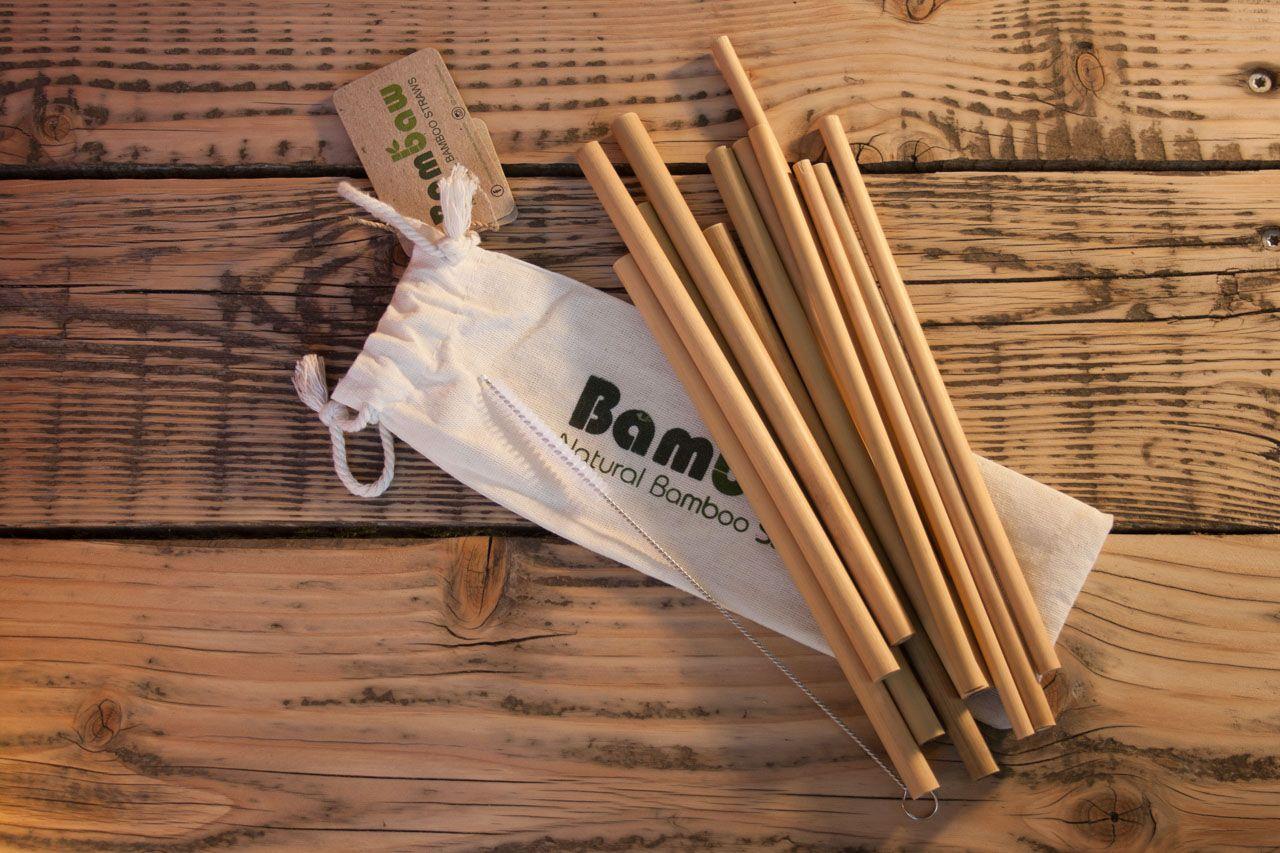 Bambaw Strohhalme Wiederverwendbar Aus Bambus Trinkhalme Cocktail Oko Strohhalme 12er Pack Trinkhalme Strohhalm Stroh