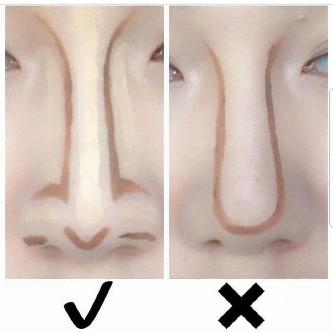 كونتور الأنف مكياج طريقة وضع المكياج كونتور دمج الكونتور هايلايت كريم اساس ميك اب ميك اب ارتست بن Nose Makeup Nose Contouring Contour Makeup
