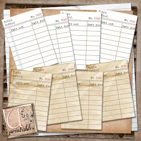 U printables by RebeccaB: FREE Printable - Library Cards