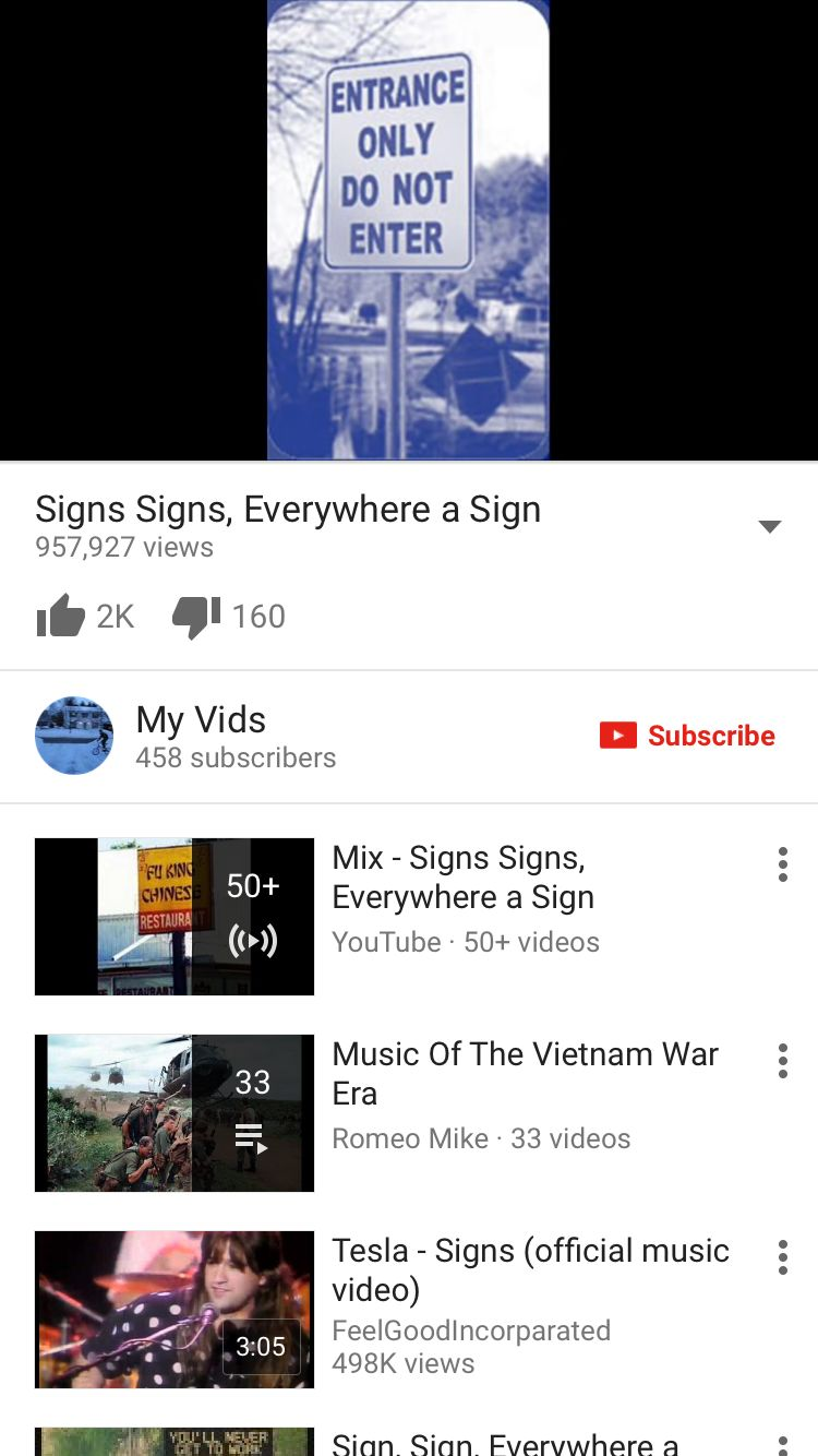 Signs by Tesla