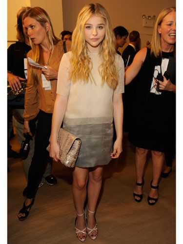 Chloe Moretz  The young actress and budding style star looked incredibly chic at Calvin Klein.