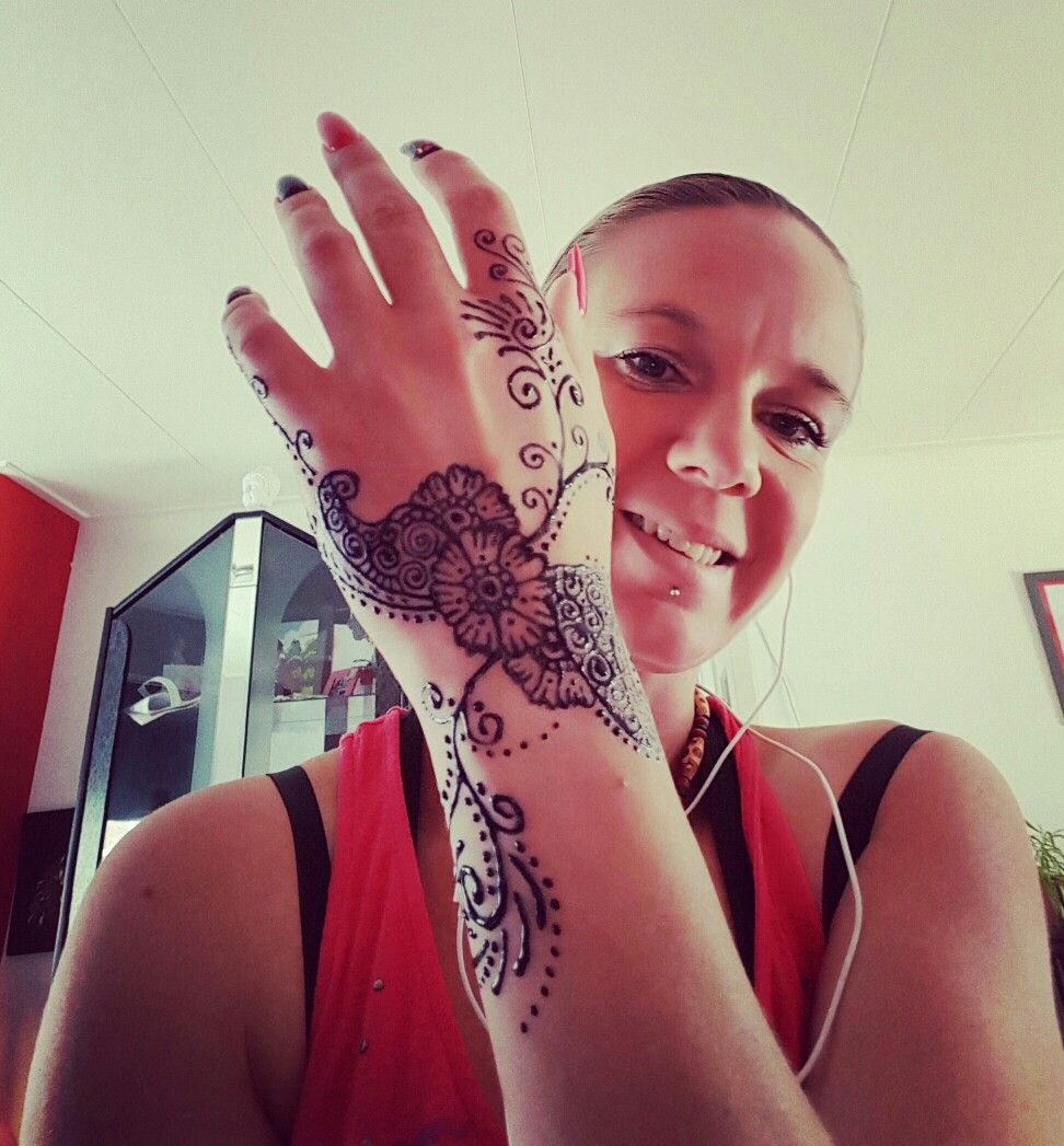 Flower henna hand wrist tattoo tatts pinterest flower