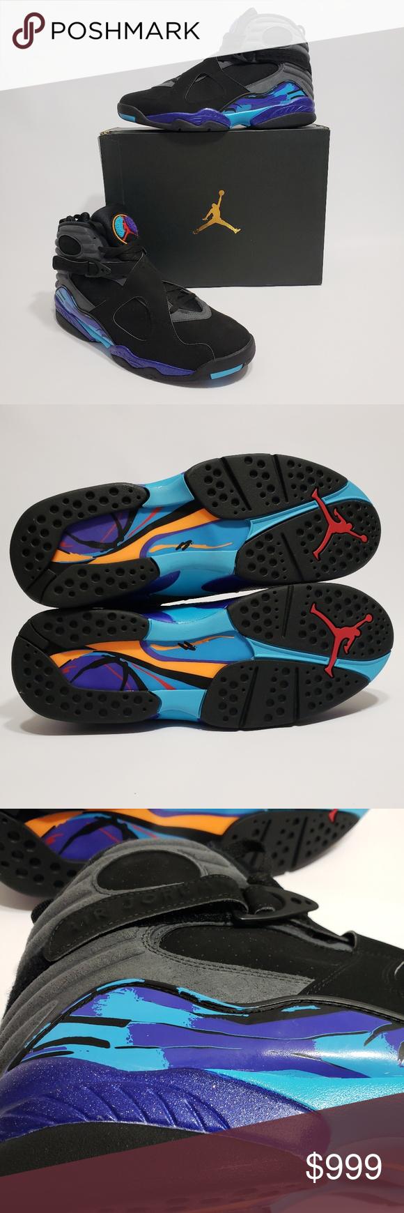 4b33a57084b3 Air Jordan 8 Retro Aqua Men s Size 14 Black Air Jordan 8 Retro Aqua Color   Black Flint Gray Bright Concord Size  14 Condition  Brand new in box Jordan  Shoes ...