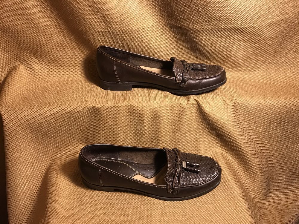2b955116192 Naturalizer Women s Upper leather Brown Loafers Size 7N  fashion  clothing   shoes  accessories