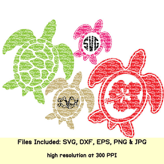 Sea Turtle Svg Summer Svg Hawaii Turtle Aloha Life Beach Hibiscus Flower Monogram Svg Files For Cric Monogram Svg Svg Files For Cricut Cricut
