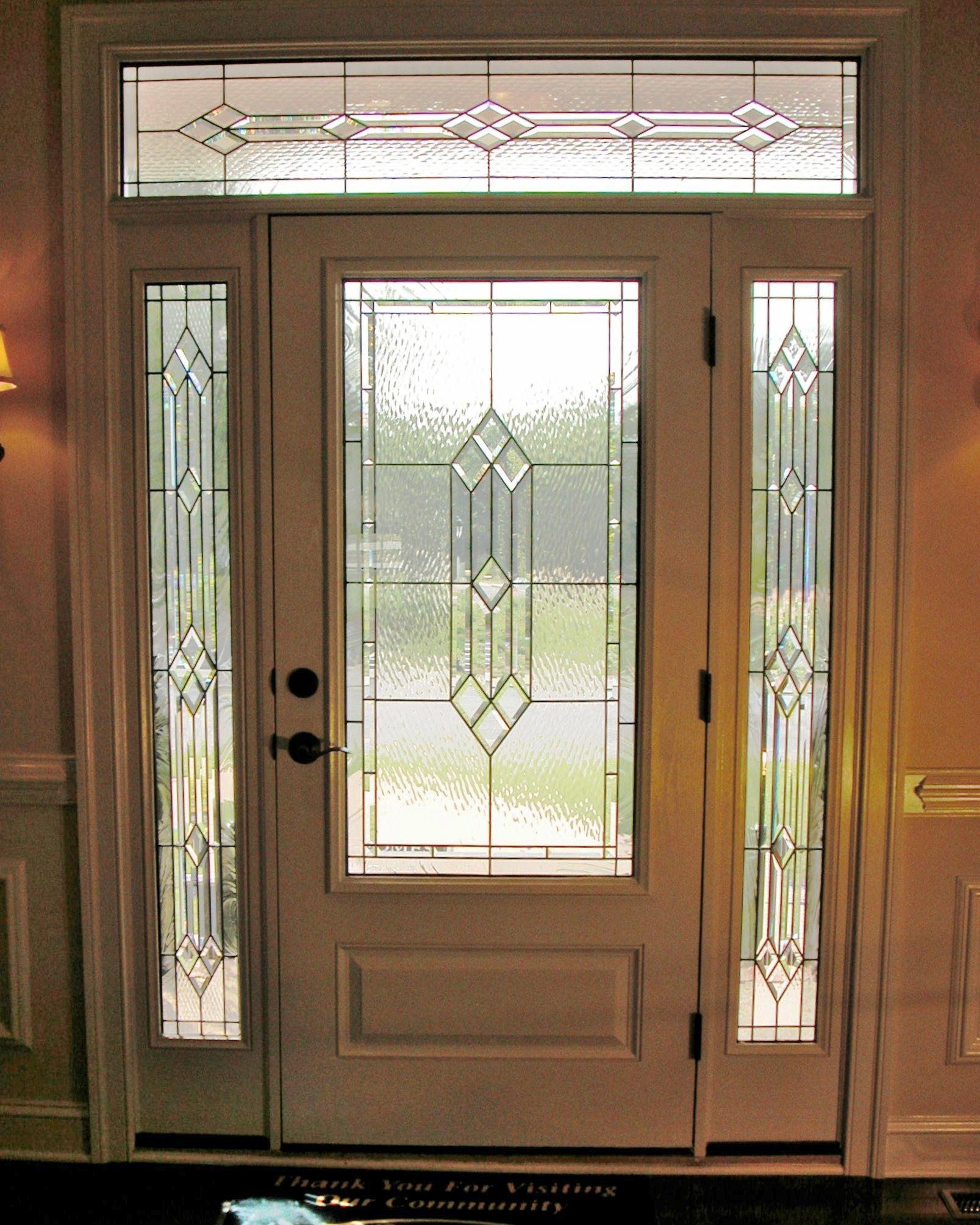 Hunton Design Stainedglass Door Custom Made Beautiful Classy Privacy Beveled Artsy Elegant Leaded Glass Door Beveled Glass Doors Door Glass Design