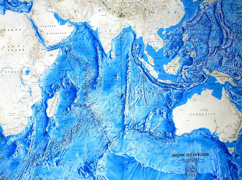 Ocean Floor Relief Maps Detailed Maps Of Sea And Ocean Depths - Map of us and oceans