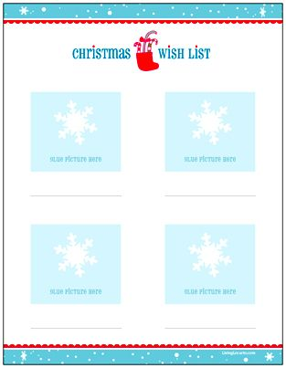 Holiday Wish List for Kids - Letter to Santa {Free Printable} works