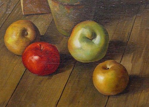 Luigi Lucioni, American piangere (1900-1988), Still Life with Apples