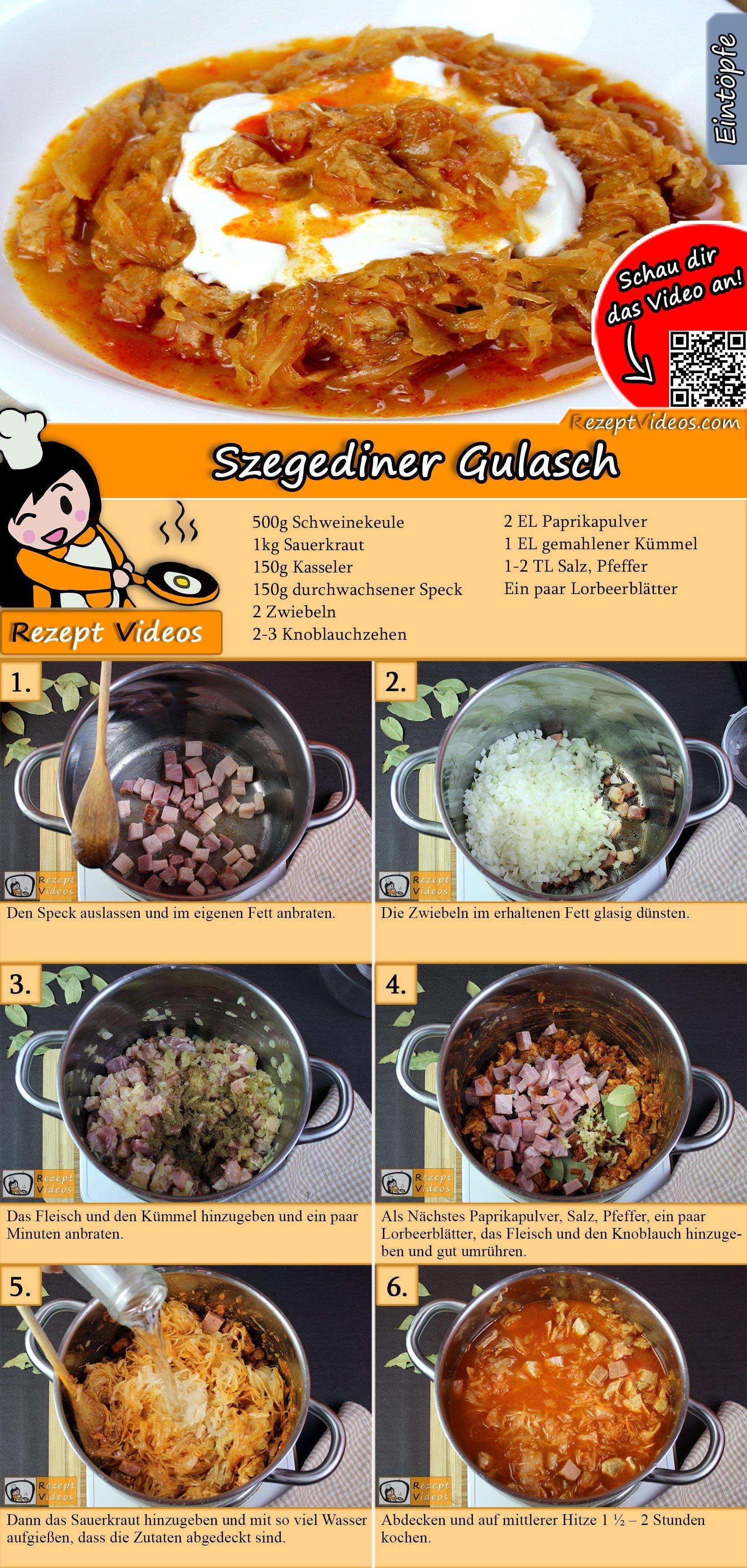 Szegediner Gulasch Rezept mit Video - Gulasch Rezept/ Hauptgerichte