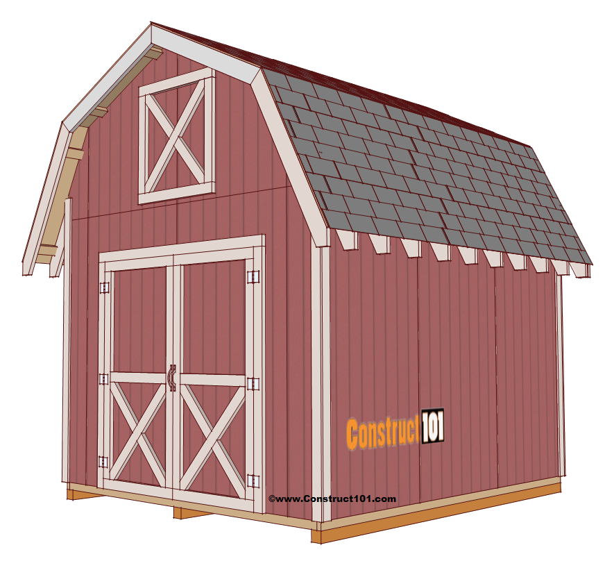 Free Shed Plans  with Drawings  Material List  Free PDF Download is part of Big garden Shed - Free shed plans include gable, gambrel, lean to, small and big sheds  These sheds can be used for storage or in the garden  Free how to build a shed guide