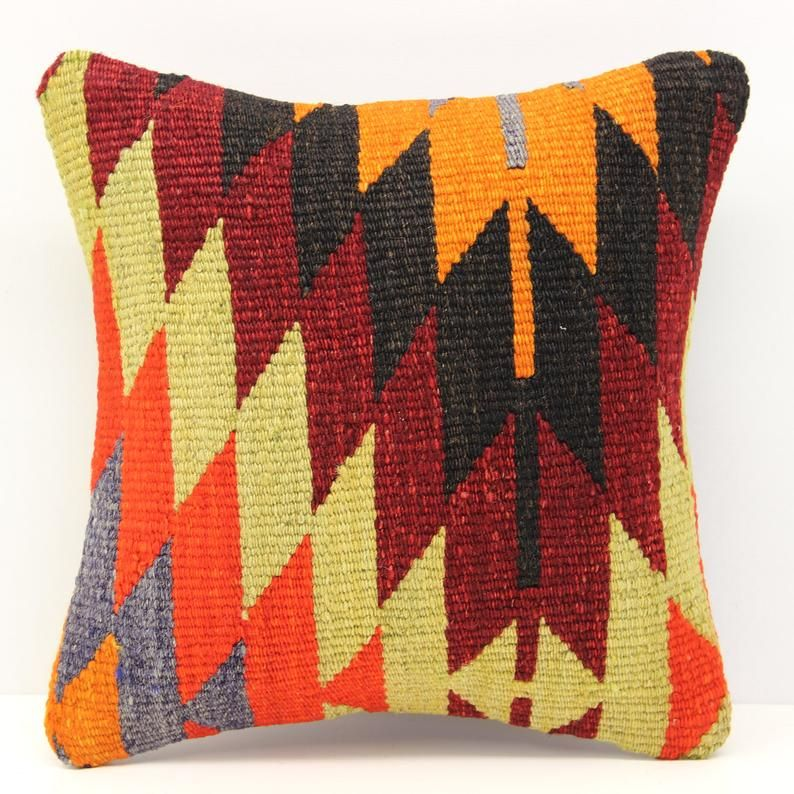 Accent Kilim Pillow Cover 12x12 Inch 30x30 Cm Natural Pillow Etsy