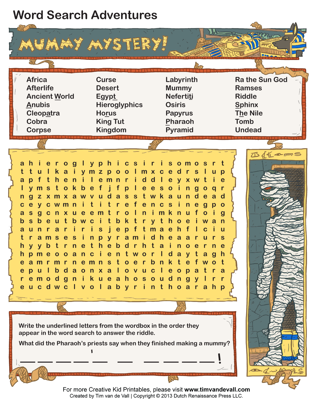 free printable word searches for kids adventure theme games for