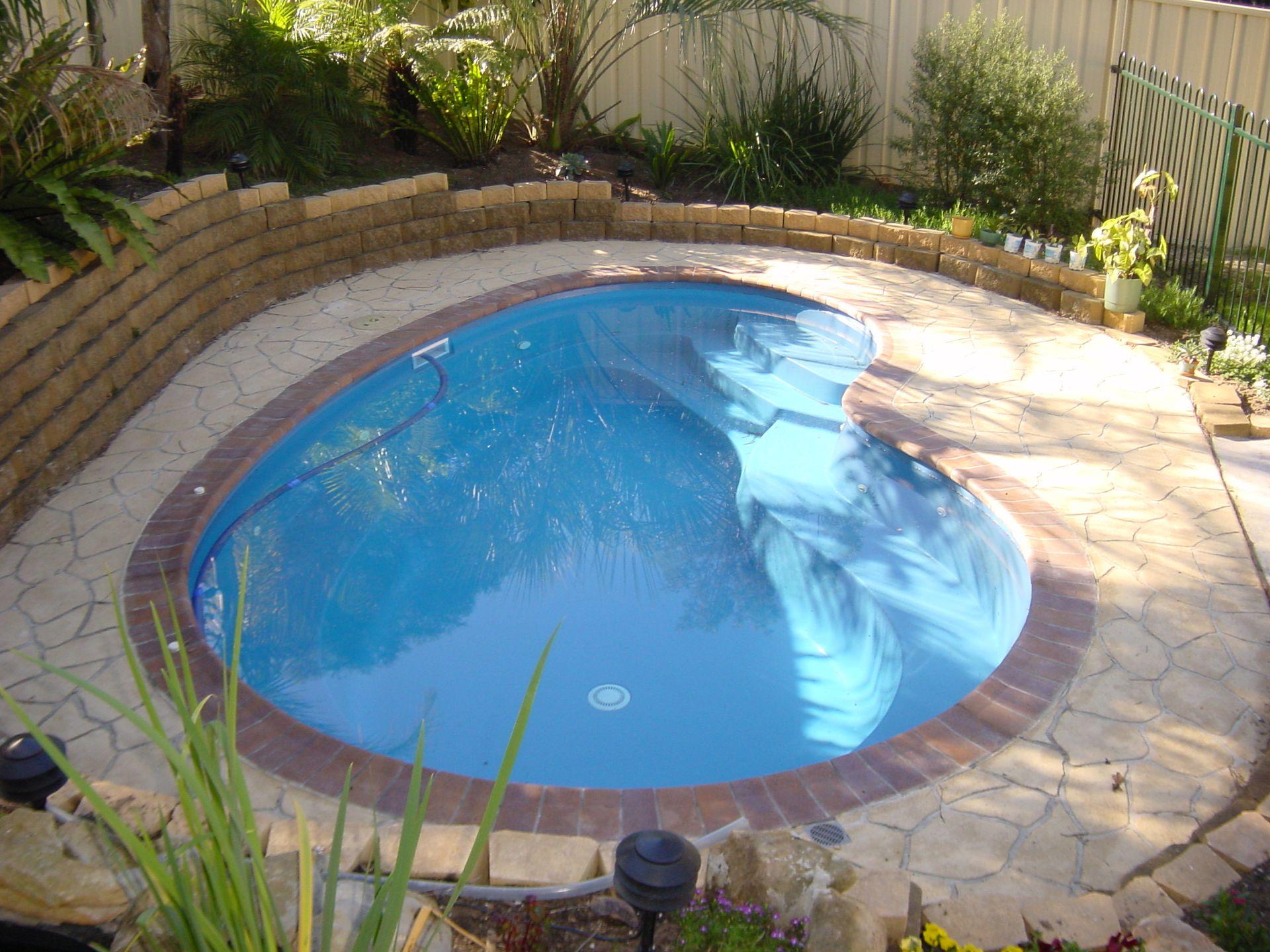 Narellan Pools Macarthur Plunge Pool Swimming Pools Fibreglass Pools Inground Pools Small Inground Pool Small Backyard Pools Swimming Pools Backyard