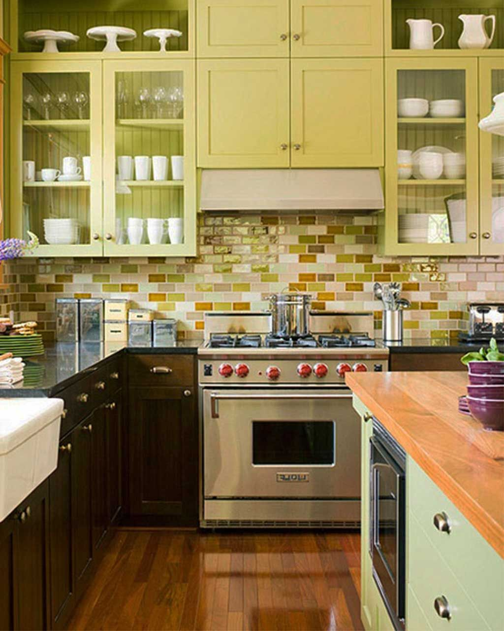 Kitchen Small Kitchen Ideas With Wood Floor Design With ...