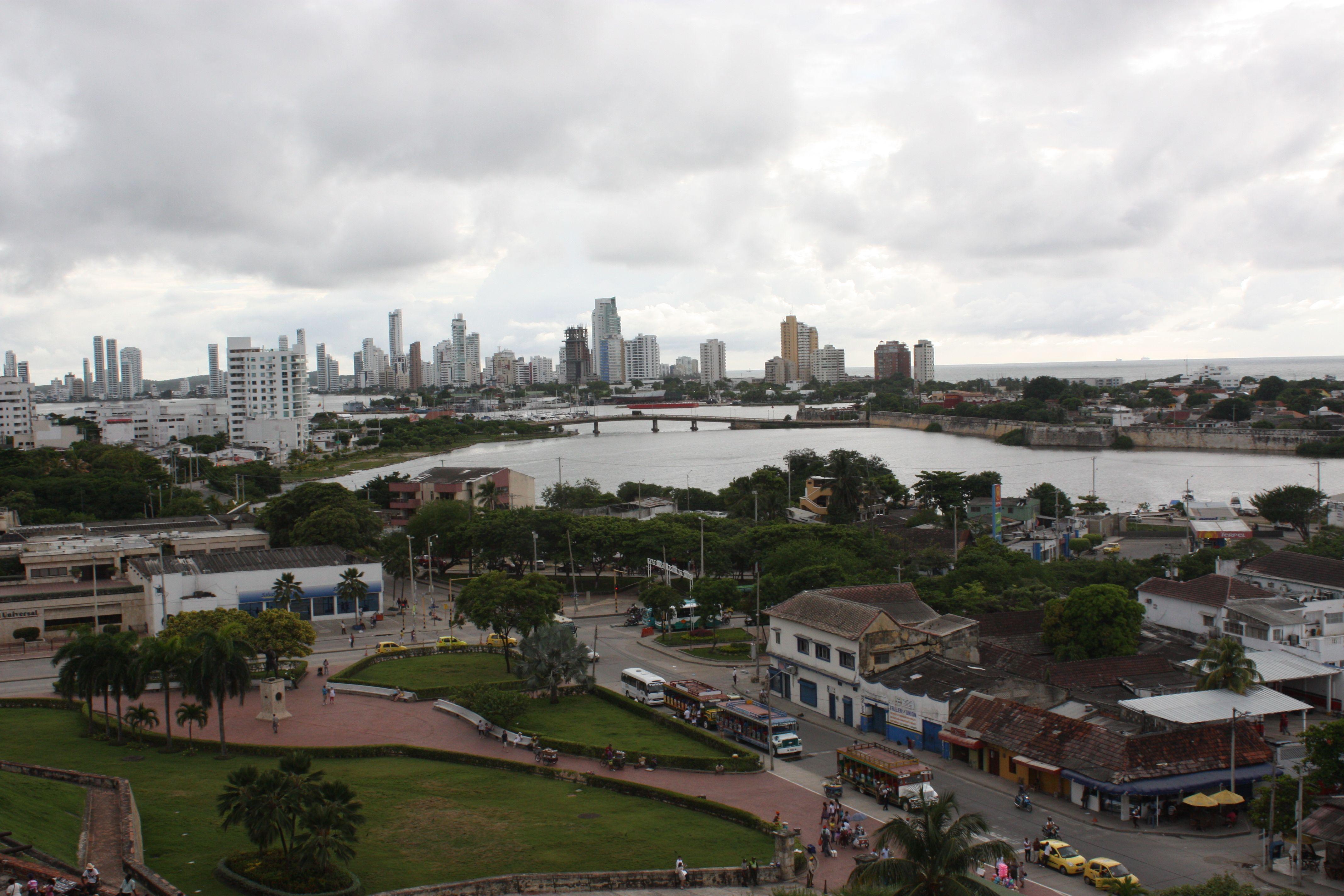 Cartagena vista de de el castillo de san felipe