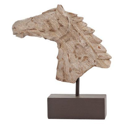 Modern Day Accents Cincel Chiseled Horse Bust Sculpture on Stand - 7723