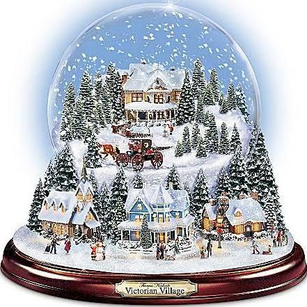 vintage christmas snow globes google search